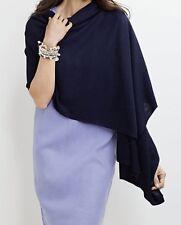 NWT$59 J.Jill oversized Wrap Scarf Pashmina Shawl INDIA INK Linen/cotton/modal
