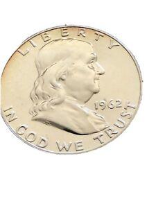 1962 Franklin Silver Half-Dollar Not Graded. Looks Proof Like