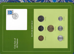 Coin Sets of All Nations Slovakia  Slovak Republic w/card 1993 - 1994 UNC