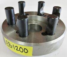 """PRATT BURNERD 6"""" Chuck Adapter Plate D1-5 Spindle Mount 3-1/8"""" Pilot Diameter"""