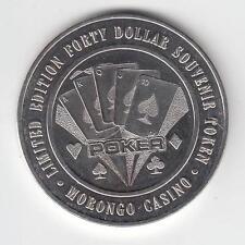 LIMITED EDTION $40 SOUVENIR TOKEN MORONGO CASINO,CABAZON,CA, 1.48oz PURE SILVER