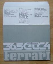 FERRARI 365 GTC/4 PININFARINA original 1971 Sales Brochure Portfolio - #50/71