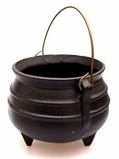 Antique Cast Iron Hanging Primitive Fireplace Black KETTLE Cooking Pot