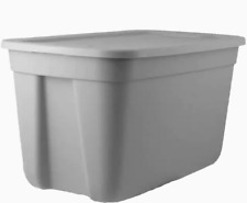 18-Gallon (72-Quart) Gray Tote with Standard Snap Lid Container Storage Bin Easy