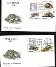 Spain 1974 First Day Cover, Greek Tortoise, Wall Gecko, Emerald Lizard Animals