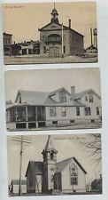 3 1910-1920 era Ada Minnesota MN Postcards City Hall  Patterson Residence
