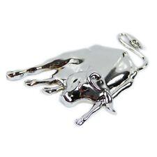 Pegatina 3D Plata Cromo de Metal de Toro Emblema para coche H3K8
