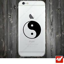 Sticker Autocollant Apple Iphone 4 5 6  Lot de 2X - SIGNE YINGYANG  IPH8