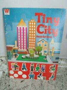 1972 Tiny City Press Out Book, Vintage, Whitman Book, Western Publishing
