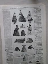 Vintage Print,DOLL FASHIONS,Dec24,1875,Centennial Daily Graphic