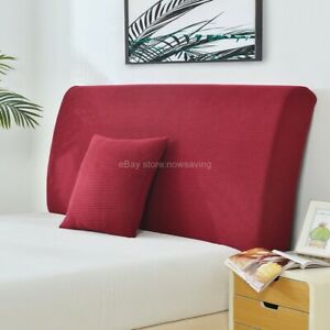 Stretch Bed Headboard Slipcover Headside Cover Dustproof Protector Solid Color