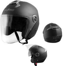 Helm Jet Motorrad Genehmigt Ece 22-05 Visier Sonnenschirm Schwarz Matt