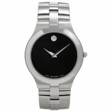 Movado Men's Watch Juro Quartz Black Dial Stainless Steel Bracelet 605023