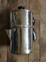 Vintage Aluminum 6 Cup Stackable Coffee Brewer