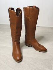 Capezio Womens Boots Size 5.5 Leather Tan Cowboy Western Tall Cowgirl 42415