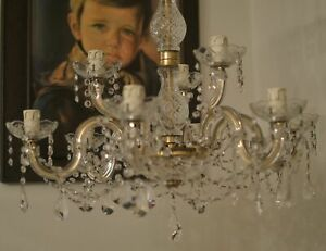 Bohemian Crystal Chandelier 9 arms