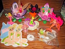 A Lot of Fairies/VintageFlower fairy houses.Charm New Tinker Caketopper 15 Items