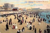 Atlantic City New Jersey~Crowded Bathing Hour~Beach Scene~1908 Postcard
