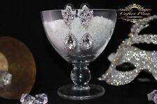 mariée mariage boucles d'oreilles pendantes XL blanc argenté LIMPIDE DE LUXE