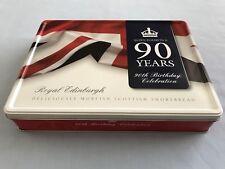 Queen Elizabeth II 90th Birthday Celebration Tin, Royal Edinburgh, Metal Tin Box