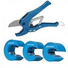 4 pc Pipe Cutter Set 15, 22 & 28mm Pipe Slice & 42mm Ratchet PVC Pipe Cutter New