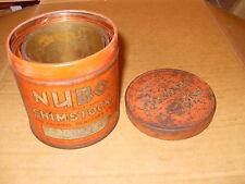 Vintage Nubo Shimstock Tin With Copper & Brass Shimstock - As Photo