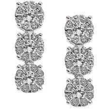 - 25 % COMETE ORB 714 orecchini in oro bianco 18 kt e diamanti ct 0,37