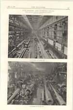 1898 Armstrong Whitworth Elswick Gun Machine Shops