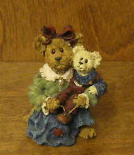 Boyds Bearstone 228345POG Ava w/ Christopher...Teach Me to Tie, From Retail Shop