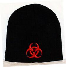 Biohazard Symbol Embroidered Skull Cap Hat