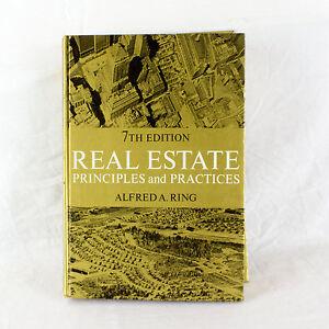 Real Estate - Principles Y Prácticas - Por Alfred Un Anillo - 7th Edición