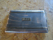 Vintage Antique Sterling Silver & 14k Gold Cigarette Case w Monogram & Hallmark