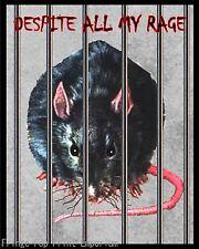 Rat Caged Art Print 8 x 10 - Despite All the Rage - Pet Rats - Kawaii - Parody