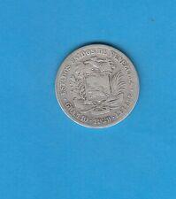 §   Vénézuela  Bolivar Libertador  Silver Coin 2 Bolivarés  en argent 1929