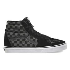 VANS Sk8 Hi Black Pewter Checkerboard UltraCush Skate Shoes Womens Size 9