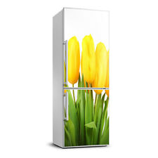 3D Art Refrigerator Wall Kitchen Removable Sticker Magnet Flowers Yellow tulips