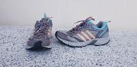 Adidas Adiprene Trail Running Shoes Women's Sz 8 gray.blue/pink/orange