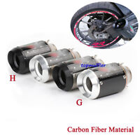 Universal Carbon Short Exhaust Muffler Pipe No DB Killer Slip On Motorcycle 51mm