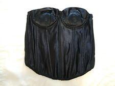 Fredricks of Hollywood 7703 Longline Black Strapless Underwire Bra Size 34C
