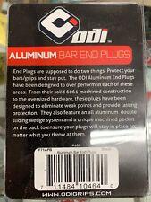 ODI ALUMINUM BAR END PLUGS BMX SCOOTER  14-19mm Envy Gt Thug plug