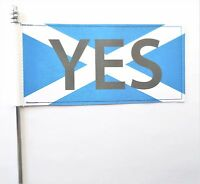 Scotland Independence Referendum Vote 'YES' Deluxe Table Flag