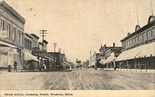 Wadena, Minnesota - Third Street Scene 1911 Antique Vintage Postcard