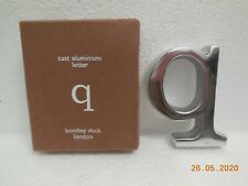 Cast Aluminium Letter ~ q ~ Bombay Duck, London