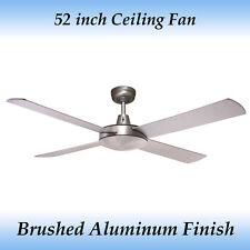 Genesis 52 inch 4 Blade Brushed Aluminum Ceiling Fan