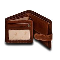 Visconti DRW30 Mens Genuine Leather Trifold Wallet ID Credit Card Holder Tan Gif