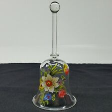Hand Blown by Gordon's Glass Gallery Cameron park Ca Floral Glass Bell 6.5Inches
