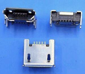 2x connecteur à souder micro USB type B femelle / 2 pcs female connector solder