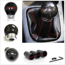 Carbon Fiber Ball Gear Shift Shifter Knob Head JDM for Car SUV Pickup Offroad