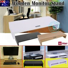 1/2Layer Wooden Monitor Stand LCD Computer Monitor Riser Desktop Display Bracket