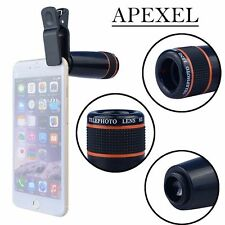 Apexel 12x Optical Zoom Telephoto Lens  for iPhone Samsung HTC Sony LG  Black